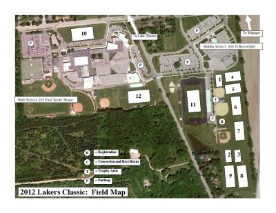 Lakers Classic 2012 Field Map